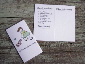 Baby Care/Launder Instruction Gift Card