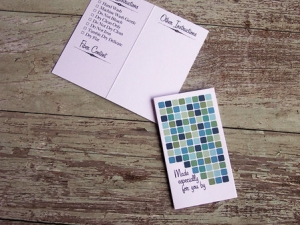 Blue Dots Care/Launder Instruction Gift Card