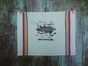 Select Cuts of Corn Tea Towel