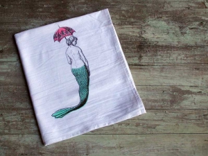 Mermaid Flour Sack Towel - discontinued