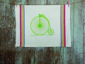 High Wheel Tea Towel