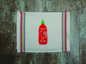 Hipster Ketchup Tea Towel