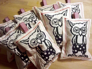 Owl Sachets - keep those moths away